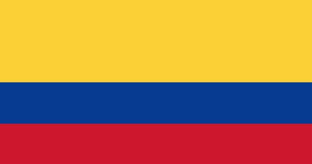 Illustration of Columbia flag